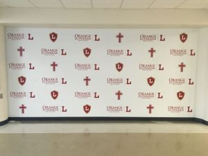 Provo Church Signs custom wall vinyl step repeat mural 300x225