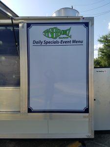 food truck menu board magnet